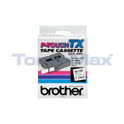 BROTHER P-TOUCH TAPE WHITE/CLEAR (24 MM X 15 M)
